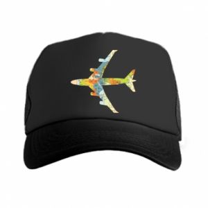 Trucker hat Airplane card