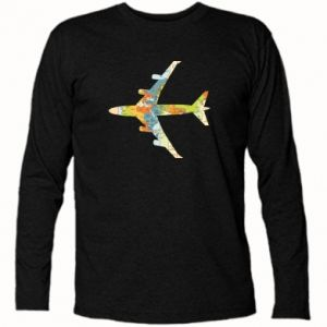 Long Sleeve T-shirt Airplane card