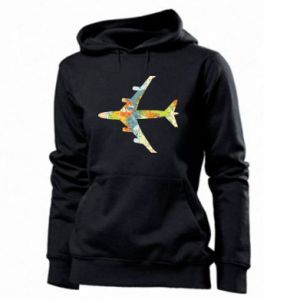 Women's hoodies Airplane card