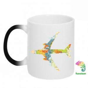 Kubek-kameleon Karta samolotowa