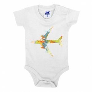 Baby bodysuit Airplane card