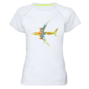 Women's sports t-shirt Airplane card
