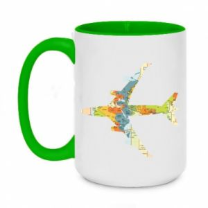 Two-toned mug 450ml Airplane card