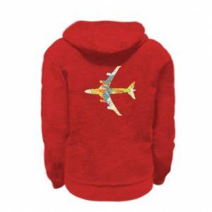 Kid's zipped hoodie % print% Airplane card