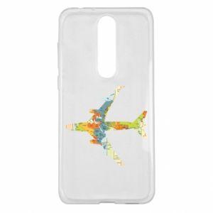 Nokia 5.1 Plus Case Airplane card