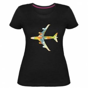 Women's premium t-shirt Airplane card