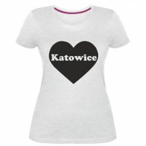 Women's premium t-shirt Katowice in heart
