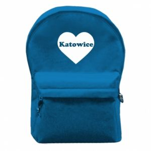 Backpack with front pocket Katowice in heart
