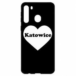 Samsung A21 Case Katowice in heart