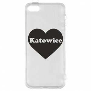 Phone case for iPhone 5/5S/SE Katowice in heart