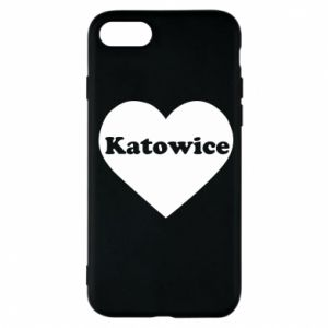 Phone case for iPhone 7 Katowice in heart
