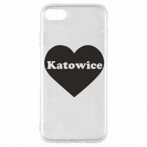 Phone case for iPhone 8 Katowice in heart