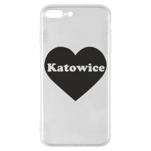 Phone case for iPhone 8 Plus Katowice in heart
