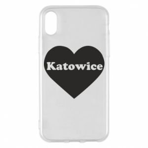 Phone case for iPhone X/Xs Katowice in heart