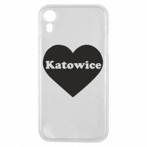 Phone case for iPhone XR Katowice in heart