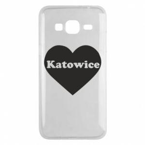 Phone case for Samsung J3 2016 Katowice in heart