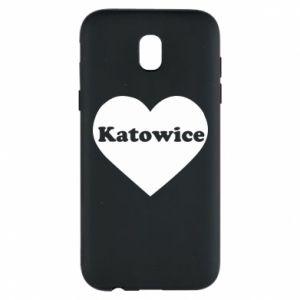Phone case for Samsung J5 2017 Katowice in heart
