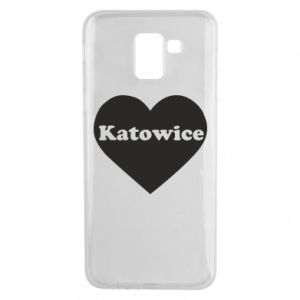 Phone case for Samsung J6 Katowice in heart
