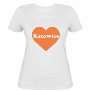 Damska koszulka Katowice w sercu