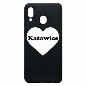 Phone case for Samsung A20 Katowice in heart