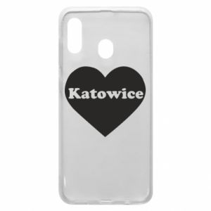 Phone case for Samsung A30 Katowice in heart