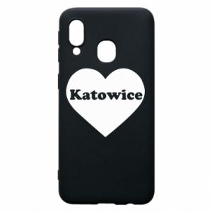 Phone case for Samsung A40 Katowice in heart
