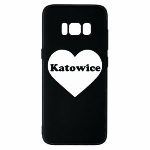 Phone case for Samsung S8 Katowice in heart