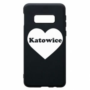 Phone case for Samsung S10e Katowice in heart
