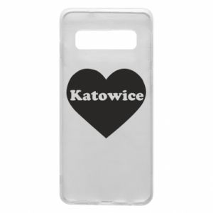 Phone case for Samsung S10 Katowice in heart
