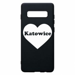 Phone case for Samsung S10+ Katowice in heart