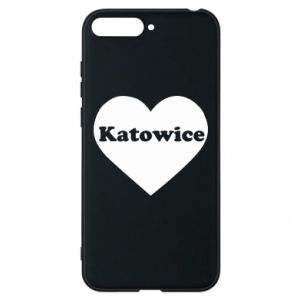 Phone case for Huawei Y6 2018 Katowice in heart