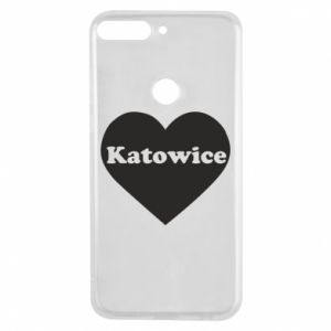 Phone case for Huawei Y7 Prime 2018 Katowice in heart