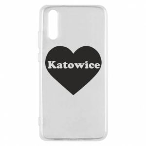 Phone case for Huawei P20 Katowice in heart