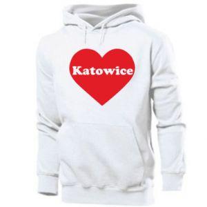 Men's hoodie Katowice in heart