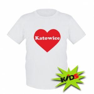 Kids T-shirt Katowice in heart