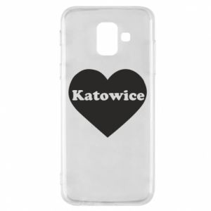 Phone case for Samsung A6 2018 Katowice in heart