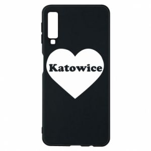 Phone case for Samsung A7 2018 Katowice in heart