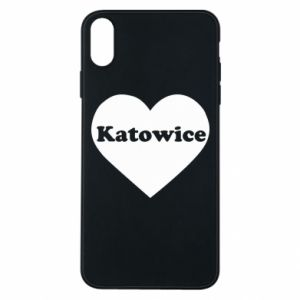 Phone case for iPhone Xs Max Katowice in heart