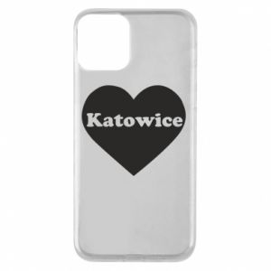 Phone case for iPhone 11 Katowice in heart