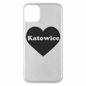 Phone case for iPhone 11 Pro Katowice in heart
