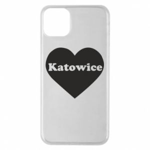 Phone case for iPhone 11 Pro Max Katowice in heart