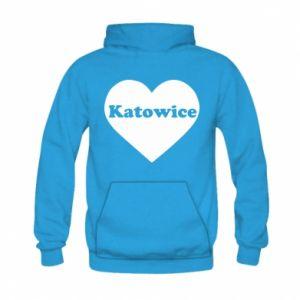 Kid's hoodie Katowice in heart