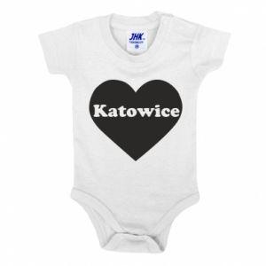 Baby bodysuit Katowice in heart