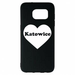 Samsung S7 EDGE Case Katowice in heart
