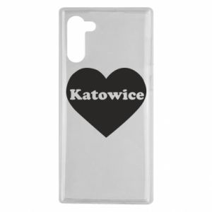 Samsung Note 10 Case Katowice in heart