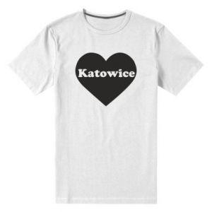 Men's premium t-shirt Katowice in heart