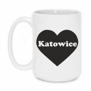 Mug 450ml Katowice in heart