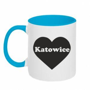 Kubek dwukolorowy Katowice w sercu