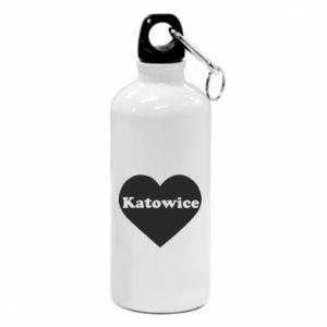 Water bottle Katowice in heart