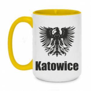 Two-toned mug 450ml Katowice